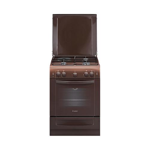 Газовая плита GEFEST ПГЭ 6110-01 0001, газовая духовка, коричневый