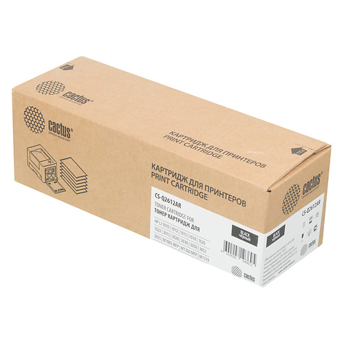 Картридж CACTUS CS-Q2612AR черный картридж mytoner mt q2612x black для hp lj 1010 1012 1015 1018 1020