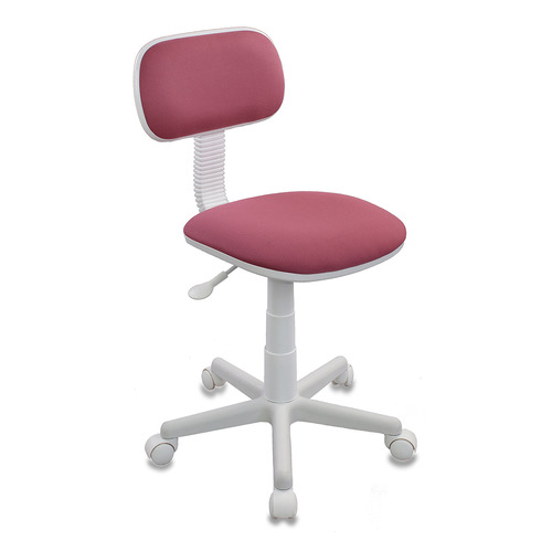Кресло детское БЮРОКРАТ CH-W201NX, на колесиках, ткань, розовый [ch-w201nx/26-31] цены онлайн