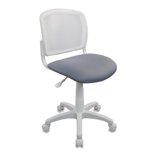 Фото - Кресло детское Бюрократ CH-W296NX, на колесиках, сетка/ткань, серый/белый [ch-w296nx/15-48] кресло бюрократ ch 296nx на колесиках сетка ткань бордовый [ch 296 dc 15 11]