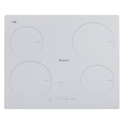 лучшая цена Варочная панель GEFEST ЭС В СН 4232 К12, индукционная, независимая, белый