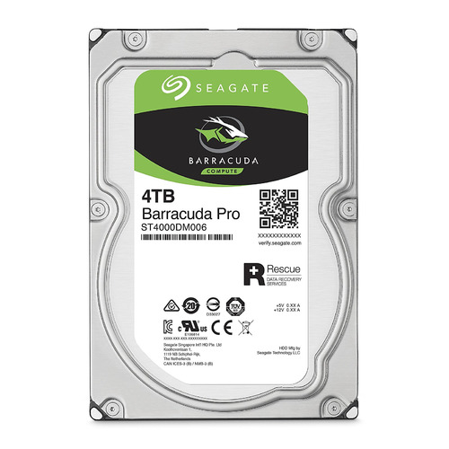 "Жесткий диск SEAGATE Barracuda Pro ST4000DM006, 4Тб, HDD, SATA III, 3.5"" жесткий диск seagate barracuda st4000dm004 4тб hdd sata iii 3 5"
