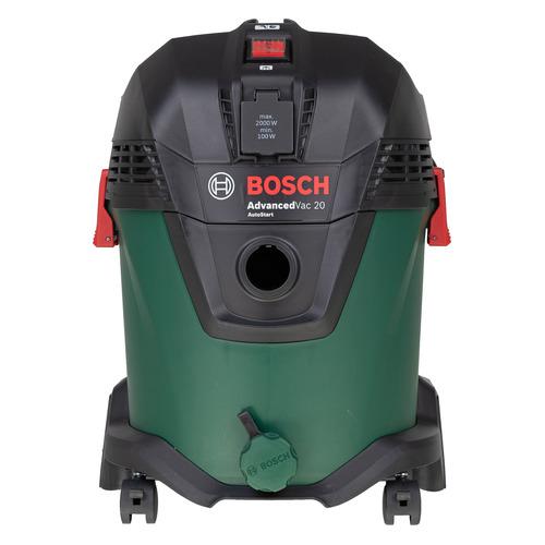 Фото - Строительный пылесос BOSCH AdvancedVac20 зеленый [06033d1200] набор bosch пылесос advancedvac 20 06033d1200 рюкзак 1 619 m00 k04