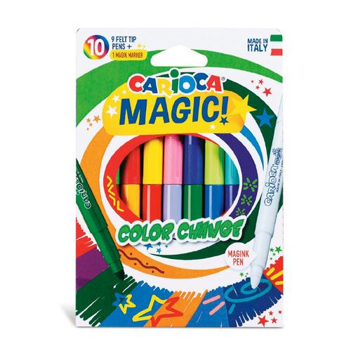 Фото - Упаковка фломастеров CARIOCA Magic, 9 [42737] 24 шт./кор. краски акварельные carioca 42401 24цв 30мм кисть пл кор 6 шт кор