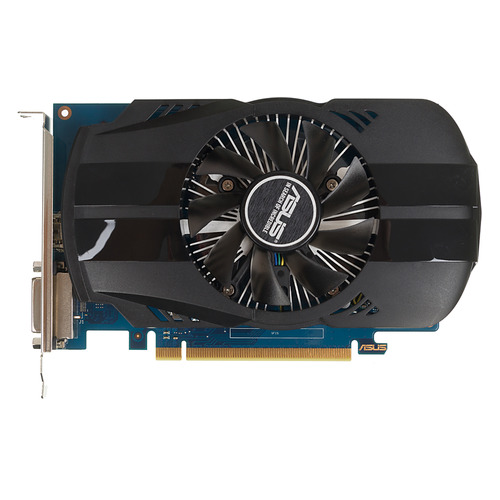 Видеокарта ASUS nVidia GeForce GT 1030 , PH-GT1030-O2G, 2Гб, GDDR5, Ret видеокарта asus nvidia geforce gt 730 gt730 sl 2gd5 brk 2гб gddr5 ret