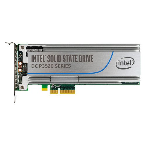 SSD накопитель INTEL DC P3520 SSDPEDMX012T701 1.2Тб, PCI-E AIC (add-in-card), PCI-E x4, NVMe pci 1620b data acquisition card ipc 610 industrial hine 100