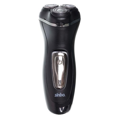 цены Электробритва SINBO SS 4048, черный и серебристый