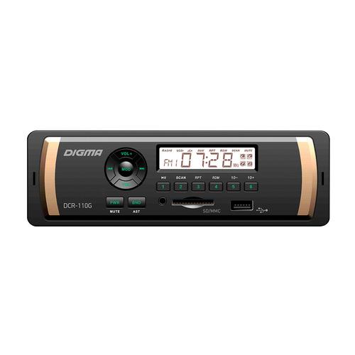 Автомагнитола DIGMA DCR-110G, USB, SD/MMC автомагнитола digma dcr 580 usb sd mmc