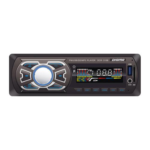 Автомагнитола DIGMA DCR-310B, USB, SD/MMC автомагнитола digma dcr 580 usb sd mmc