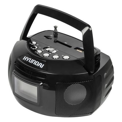 Фото - Аудиомагнитола HYUNDAI H-PAS140, черный аудиомагнитола telefunken tf srp3503b серый 6вт mp3 fm dig usb bt sd