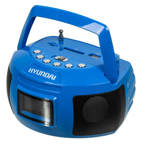 Фото - Аудиомагнитола HYUNDAI H-PAS160, синий аудиомагнитола telefunken tf srp3503b серый 6вт mp3 fm dig usb bt sd