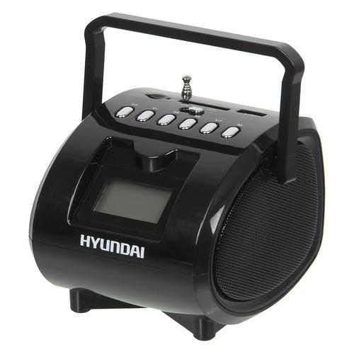 Фото - Аудиомагнитола HYUNDAI H-PAS180, черный аудиомагнитола telefunken tf srp3503b серый 6вт mp3 fm dig usb bt sd