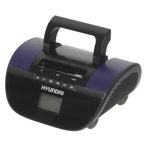 Фото - Аудиомагнитола HYUNDAI H-PAS220, черный и синий аудиомагнитола telefunken tf srp3503b серый 6вт mp3 fm dig usb bt sd