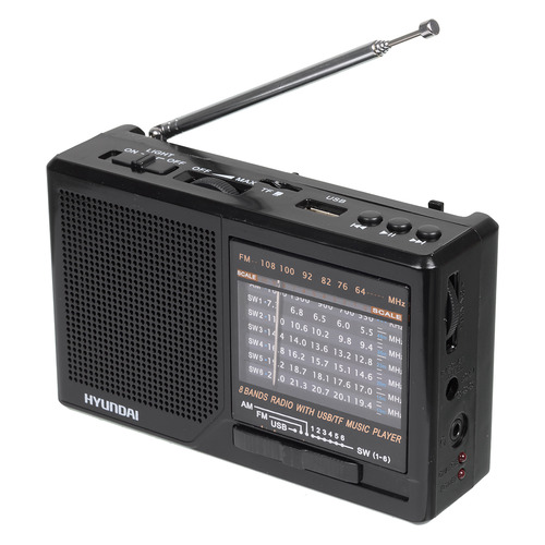 Радиоприемник HYUNDAI H-PSR140, черный цена и фото