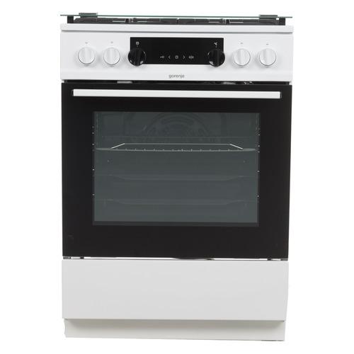 Газовая плита GORENJE K634WF, электрическая духовка, белый газовая плита gorenje gi5121wh газовая духовка белый