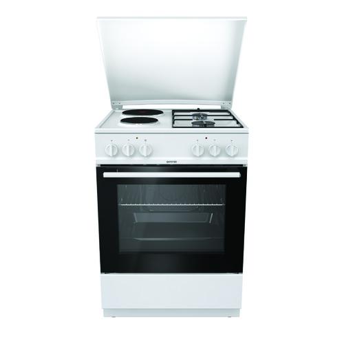 Газовая плита GORENJE K6121WG, электрическая духовка, белый газовая плита gorenje gi5121wh газовая духовка белый