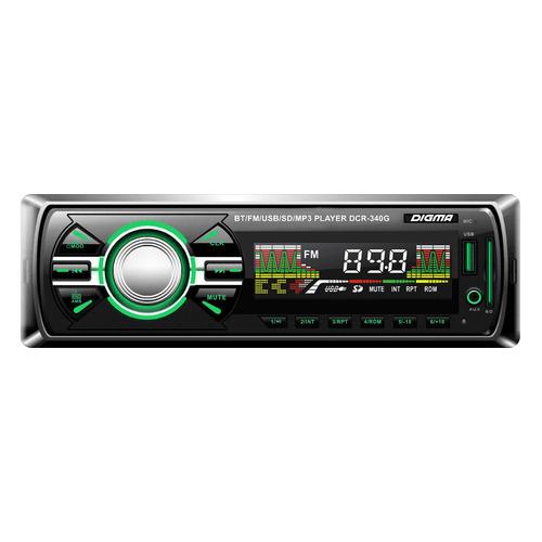 Автомагнитола DIGMA DCR-340G, USB, SD/MMC все цены