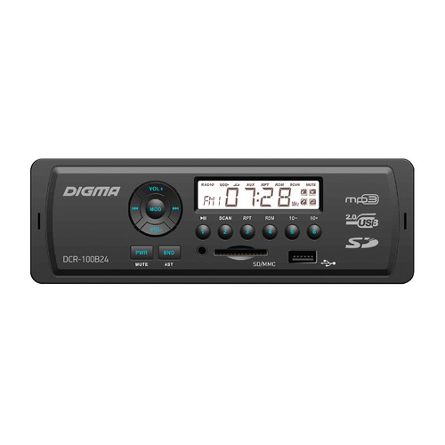 Автомагнитола DIGMA DCR-100B24, USB, SD/MMC ga202 mmc authentic and ic
