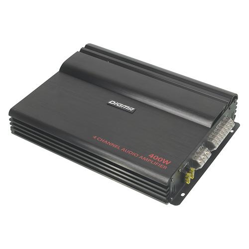 Усилитель автомобильный DIGMA DCP-420, черный автомобильный усилитель 2 канала kicx ar2 120