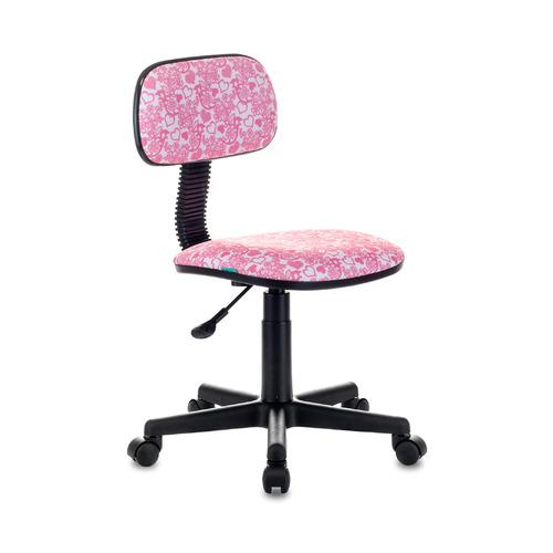 Кресло детское БЮРОКРАТ CH-201NX, на колесиках, ткань, розовый [ch-201nx/hearts-pk] все цены
