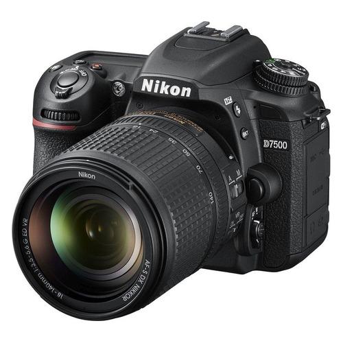цена на Зеркальный фотоаппарат NIKON D7500 kit ( 18-140mm f/3.5-5.6G VR), черный