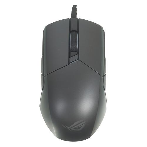 Мышь ASUS ROG Pugio, игровая, оптическая, проводная, USB, черный [90mp00l0-b0ua00]