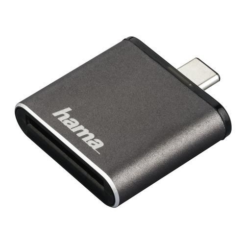 Фото - Картридер внешний HAMA H-124186, серый [00124186] устройства чтения карт памяти