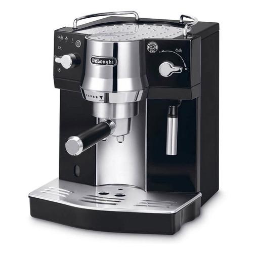 Кофеварка DELONGHI EC820.B, эспрессо, серебристый / черный [0132104124] кофеварка гейзерная delonghi emkm 4 b черный серебристый