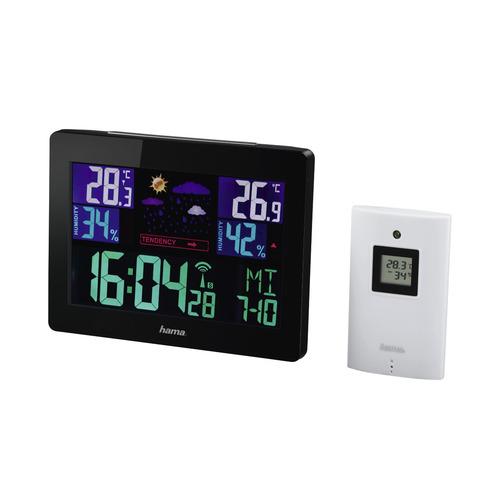 Погодная станция HAMA Color EWS-1400 H-136259, черный [00136259]