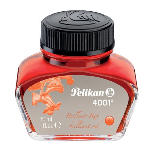 Флакон с чернилами Pelikan INK 4001 78 (PL301036) Brilliant Red чернила красные чернила 30мл для руч