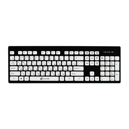 Клавиатура OKLICK 580M, USB, черный клавиатура oklick 510ml черный usb slim multimedia led
