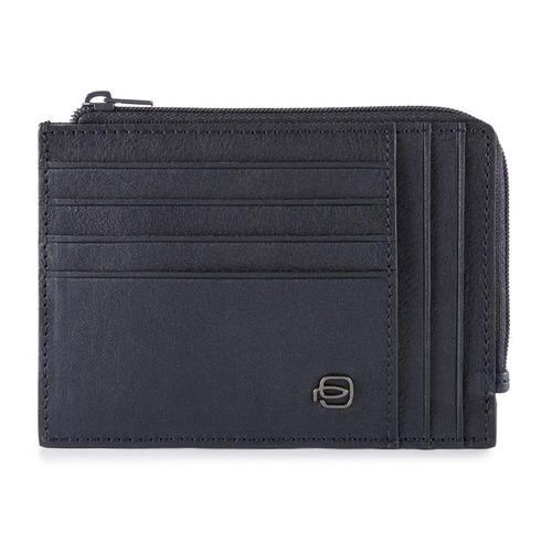 Чехол для кредитных карт Piquadro Black Square PU1243B3R/BLU темно-синий натур.кожа цена и фото