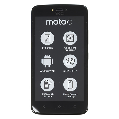 Смартфон MOTOROLA C 3G 8Gb, XT1750, черный смартфон motorola moto c xt1750 5 fwvga 854х480 mediatek mt6737m 1 1ghz 1gb 8gb 3g wifi bt sd 5mp android 7 0 starry black
