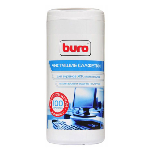 Влажные салфетки BURO BU-Ascreen, 100 шт (туба) влажные салфетки buro bu tsurface 100 шт туба