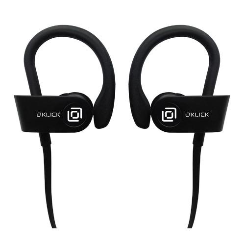 Наушники с микрофоном OKLICK BT-S-120, Bluetooth, вкладыши, черный [be216] беспроводные наушники oklick bt s 100 черный
