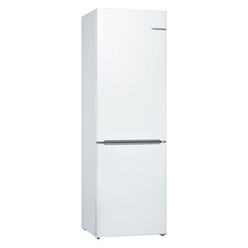 Холодильник BOSCH KGV36XW21R, двухкамерный, белый холодильник bosch kgn39xg34r двухкамерный золотистый