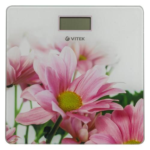 Напольные весы VITEK VT-8051 W, до 150кг, цвет: белый/рисунок [8051-vt-01] весы электронные vitek vt 8074