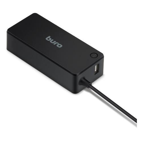 Фото - Адаптер питания BURO BUM-0220B65, 65Вт универсальный блок питания для ноутбуков нетбуков и цифровой техники на 90w с usb портом 2 1a