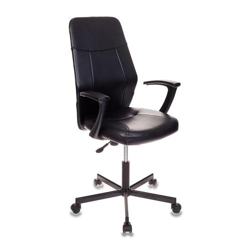 Кресло БЮРОКРАТ CH-605, на колесиках, искусственная кожа, черный [ch-605/black] кресло бюрократ ch 1399 на колесиках искусственная кожа серый [ch 1399 grey]