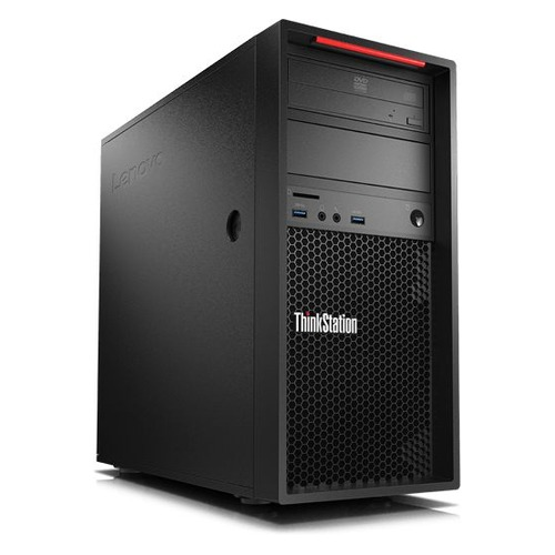 Рабочая станция LENOVO ThinkStation P320, Intel Core i7 7700, DDR4 16Гб, 256Гб(SSD), Intel Quadro P600 - 2048 Мб, DVD-RW, CR, Windows 10 Professional, черный [30bh0009ru] рабочая станция hp z240 intel core i7 7700k ddr4 16гб 256гб ssd intel hd graphics 630 dvd rw cr windows 10 professional черный [y3y83ea]