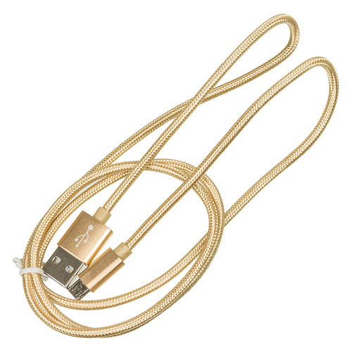 Кабель BURO Braided, USB A(m), micro USB B (m), 1м, золотистый [bhp ret micusb-br] кабель buro braided usb a m micro usb b m 1м черный [bhp ret micusb br]