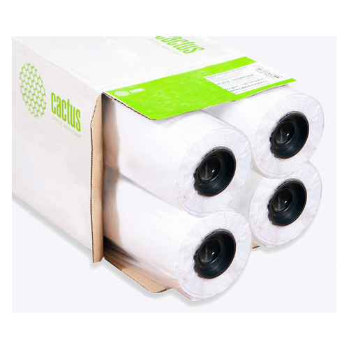 Бумага Cactus Eco CS-LFP80-914457E-4 36(A0) 914мм-45.7м/80г/м2/белый CIE155% втулка:50.8мм (2) (уп