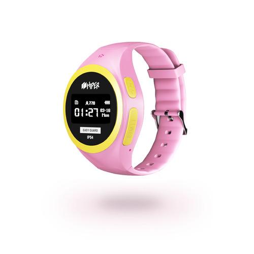 """Смарт-часы HIPER EasyGuard, 1"""", розовый / розовый [eg-01pnk]  - купить со скидкой"""