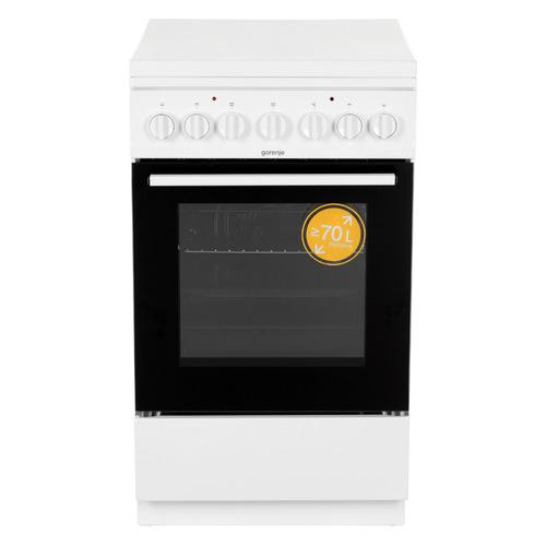 Газовая плита GORENJE K5241WH, электрическая духовка, белый