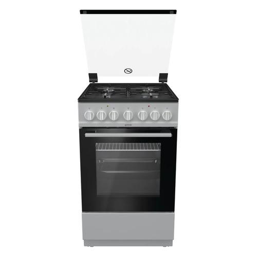 Газовая плита GORENJE K5241SH, электрическая духовка, серебристый цена 2017