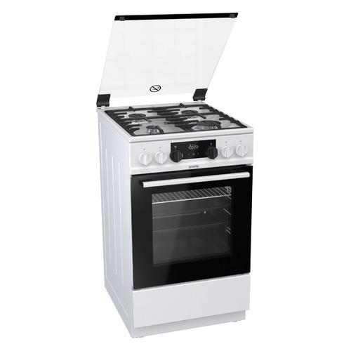 Газовая плита GORENJE K5341WF, электрическая духовка, белый цена 2017