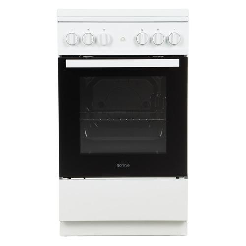 Газовая плита GORENJE G5112WF-B, газовая духовка, белый газовая плита gorenje g5112wf b белый