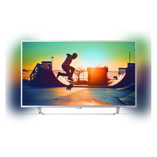 LED телевизор PHILIPS 49PUS6412/12 R, 49, Ultra HD 4K (2160p), серебристый