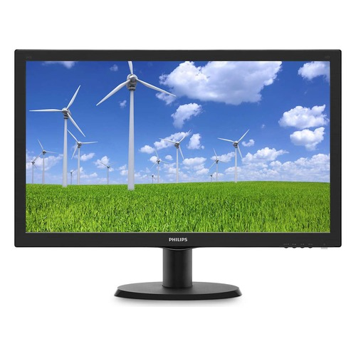 Монитор ЖК PHILIPS 243S5LSB5 (00/01) 23.6, черный