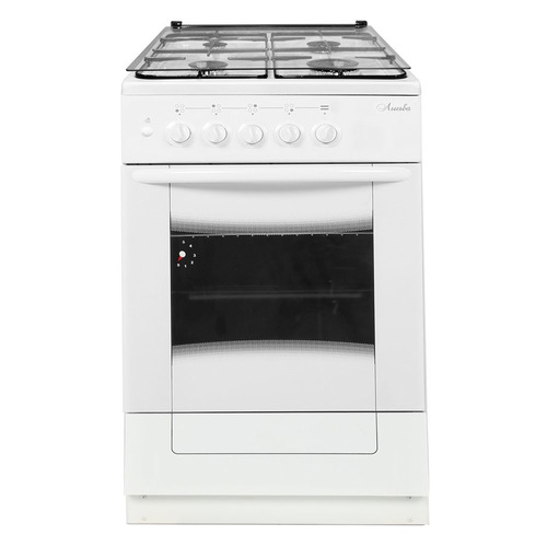 Газовая плита ЛЫСЬВА ГП 400 М2С-2у, газовая духовка, стеклянная крышка, белый